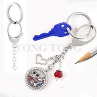 Wholesale New L stainless steel Bag Clip Key Chain Floating Locket Key Chain Pendant Key Chain
