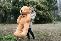 Wholesale GIANT CM Cotton Light Brown Giant cm Cute Plush Teddy Bear Huge Soft TOY