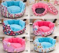 Wholesale New Hot Pet beds Dog beds Cat beds Canvas lint pad Mix colors cat litter kennel pet nest dog bed dog sofa M code