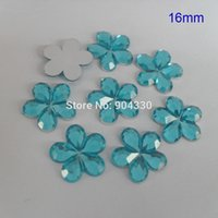 aqua blossom - Aqua Blue MM Blossom Flatback Rhinestone Acylic Diamond Scrapbooking Jewelry Garment Crafts DIY