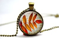 autumn leaf photos - 10pcs Leaf Jewellery Fall jewelry Autumn Leaves Glass Photo Cabochon Necklace