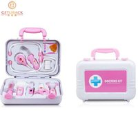 Wholesale Kid Simulation Portable Medicine Box Doctors Play House Toys for Baby PS Set With Light Classic Toys for Children