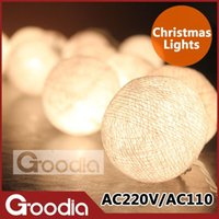 Wholesale christmas lights luminarias home decoration garland string lights AC110V V with bulb ball christmas outdoor decoration