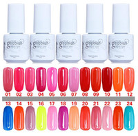 Wholesale 168 Colors Gelish harmony Nail Polish colors LED UV Gel nail polish Nail art lacquer Soak off nail gel French nail factory price