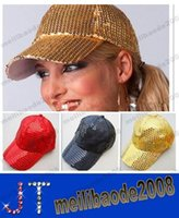 Wholesale Fashion Sequins baseball cap Bling sports hats new style baseball caps hat cap Stage cap MYY12816A
