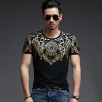 Wholesale 2015 New Casual Men Bronzing Short Sleeved Cotton T shirt Fashion Slim O Neck Men Cotton Summer T Shirts