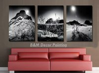 Wholesale Hot Selling Canvas Pieces Wall Art Modern Art Home Decoration Black White Painting Of Snow For Room Low Cost