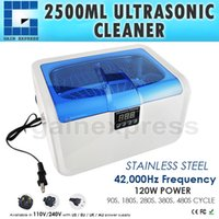 Wholesale CE A L Digital Ultrasonic Cleaner Heater Jewelry Watches Glasses Dental Equipments Cleaning Tool w Timer Stainless Steel