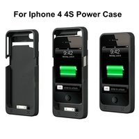 Cheap Portable External Battery Charger Case for iphone 4 4S 1900mAh Backup Rechargeable Charging Cover Lithium Battery Cover