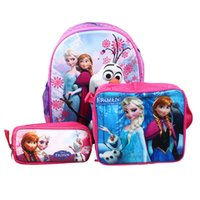 Wholesale Frozen Sets Baby Kids Frozen Backpacks and Lunch Bags and Pencil Case Frozen School Bags for Baby Kids Girls and BOys go to school
