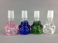 Wholesale G O G bowl joint skull glass smoking bowl for glass water pipe
