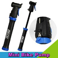 Wholesale Portable Cycling Mountain Road Bike Mini Pump Double Stroke Design for French and American Gas Mouth Bicycle Pump
