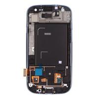 achat en gros de galaxy s3 gros numériseur remplacement-LCD blanc gros-Haute Qualité + Affichage écran Assemblée de remplacement de verre tactile Digitizer pour Galaxy S3 i9300