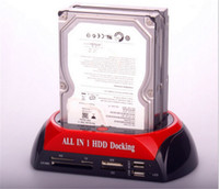 sata docking station - Dual HDD Dock Station quot quot SATA Hard Disk Drive USB E SATA Card Reader