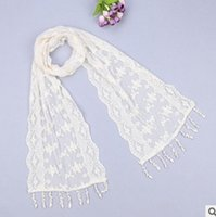 Wholesale 500PCS LJJL25 Lady Triangle Lace Silk Scarf New Fashion Scarf Tassel Flower Lace Scarves Wrap Shawl Mantilla