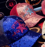 boys hats - Boys Girls Sunhat Summer Kids Hats Children Visors Sharkle Sequin Star Letter Caps Korean Baby Cap Bongrace Peak Pattern I3895