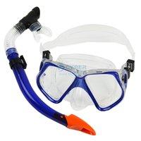 Wholesale 4Pcs Diving Mask and Snorkel Set Shield Goggles Swimming Goggles Diving Equipment B2 TK0867