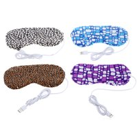 Wholesale New Arrival USB Charging Hot Heat Sleeping Eye Mask Soft Nap Cover Eye Relax Portable Eye Patch Blindfold Colors Choice order lt no track