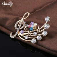 american music styles - Vintage European Style Wedding Bouquet Brooch Pins Music Rhinestone Flowers Brooches Pins Gift Jewelry On Sale