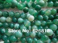 Freeshipping (2 hilos / set) de 12 mm ónix verde ágata redonda suelta perlas de piedra