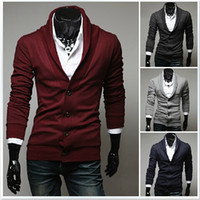 Wholesale New England men s clothes Boys Slim V neck Cardigan Men s sweater men Knitwear mens sweater