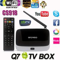 Wholesale Q7 Android TV Box CS918 Full HD P RK3188T Quad Core Media Player GB GB XBMC KODI Wifi better than MXQ M8 MX MS TV Box