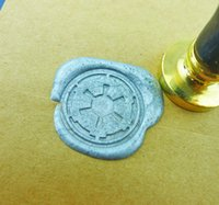 Wholesale Star Wars wax seal stamp Gold Plated Imperial Crest Gal multi colo brass stamp