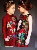baby gown patterns - 2015 New Arrival Family Dress Mother And Daughter Fitted Rose Pattern Cotton Baby Girls Vest Dress Red Latest Fashion Style Kids Dress mz01
