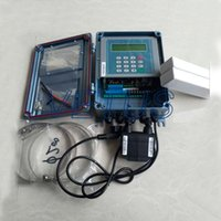 Wholesale clamp on ultrasonic flow meter TDS F channel analog signal inputs liquid flow measurement with M2 Transducer mm mm