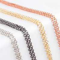 14k gold chains - 10pcs New fashion CM Alloy Metal Rolo Link Chain fits Magnetic Glass Floating Lockets Chain Necklace