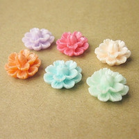 Wholesale 6color optional bag Mixed Layered Flower Resin Flatback Cabochon Scrapbook DIY Phone Shell Hair Decoration mm