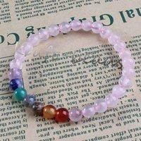 Wholesale Charm natural Rose Quartz precious stone Round Shape Beads Stone chakra healing Bracelets Jewelry Gift