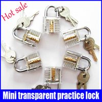 Wholesale Hot sale mini cutaway transparent practice lock professional locksmith supplies made in China in stock now