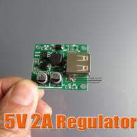 Wholesale 5v A Solar Panel Power Bank USB Charge Voltage Controller Regulator V V input Vdc Output for iPhone Samsung HTC mobile work