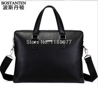 Wholesale BOSTANTEN new design male cowhide shoulder bag Genuine leather men commercial casual briefcase handbag