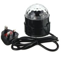Wholesale Excellent quality x W led RGB Crystal Magic Ball Stage Effect Lighting Lamp Bulb Party Disco Club DJ Light degree
