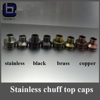 Wholesale Chuff Enuff Drip Tips m top cap POM material outer Cap Drip Tips Thread For e cigs Atty Tobh Stillare RDA