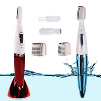 Wholesale Top Micro Precision Electric Eyebrow Trimmer Bikini Face Hair Remover Razor Shaver
