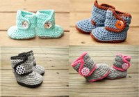 Unisex Winter Cotton Free shipping!Knitted newborn Booties!Handmade Crochet toddler snow boots,cotton yarn baby shoes,winter soft walking shoes!10pairs 20pcs