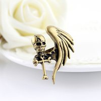 Wholesale Fashion Jewelry Gothic Style Hot selling Gold Exaggerated Skull Rings For Femininos Anel
