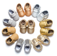 Wholesale 92 Styles Baby Soft PU Leather Tassel Moccasins Girls Bow Moccs Baby Booties Flock baby girl shoes Tassel Shoes Moccasin