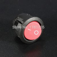 Wholesale High Quality Red AC A A V Pin ON OFF SPST Rocker Switch Round Button Rated Current