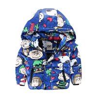 age water - Children Dowm Coat Winter Hot Fashion Style Boys Girls Hooded Outwear Cartoon Printed Kids Leisure Jacket Fit Age T1433