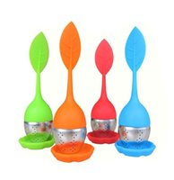 Wholesale Tea Infuser Silicone Tea Strainer Stainless Steel Leaf Fish Tea Pot Infuser Sphere Mesh Ball cm