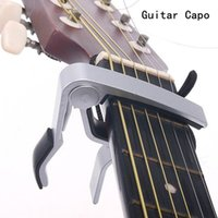 Wholesale High Quality New Aluminium Alloy Silver Quick Change Clamp Key Acoustic Classic Guitar Capo For Tone Adjusting Hot