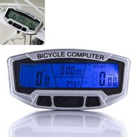 Wholesale Bicycle Computer Waterproof Backlight LCD Bike Computer Odometer Speedometer Velometer With Clock Stopwatch