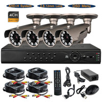 Wholesale 4CH AHD H P Real Time DVR System MP mm Lens OSD Array IR Camera