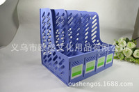 big book shelf - PP plastic magazine shelf office desk document organizer file tray fit for A4 FC columns big layer book ends freeshipping