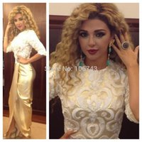 beaded brooch designs - vestidos new design myriam fares sexy Formal Elegant gold embroidery party pronm gown long Celebrity Dresses