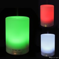 Wholesale LED Colors Changing Mini Nightlight Ultrasonic Diffuser Aromatherapy Humidifier for Home Office Air Clean Purifier ML HOA_361